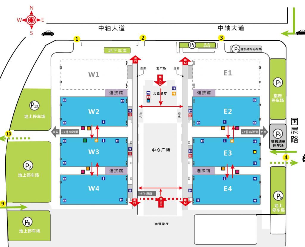 CFCE - Mapa da Feira - Pavilhões