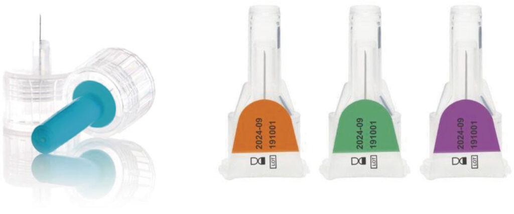 Agulhas descartáveis para aplicação de insulina
